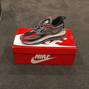 Nike Air Max Zephyr 'Smoke Grey And Siren Red''
